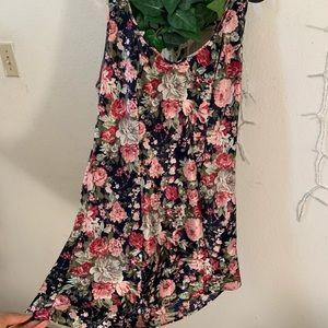 Floral silky mini dress